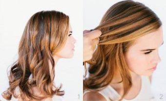 Как заплести красивую косу-водопад шаг 1-2