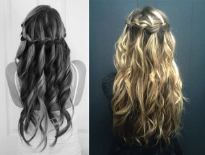 Как плести косу водопад пошаговая инструкция фото