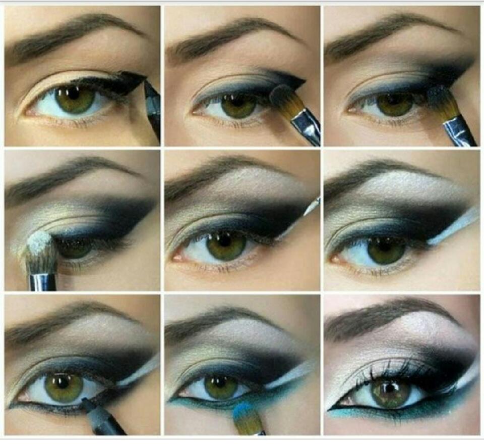 Как нанести правильно макияж глаз