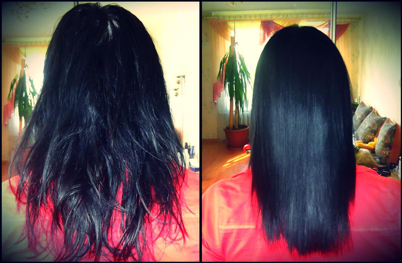 кератиновое выпрямление волос фото до и после3