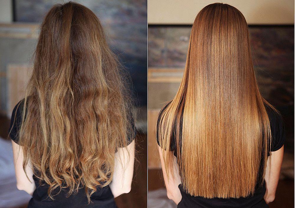 кератиновое выпрямление волос фото до и после4