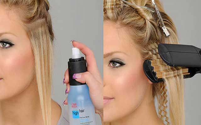 Как сделать гофре на коротких волосах 102