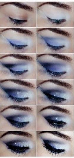 вечерний макияж для голубых глаз пошаговое фото