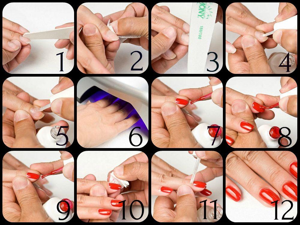 как сделать маникюр гель лаком