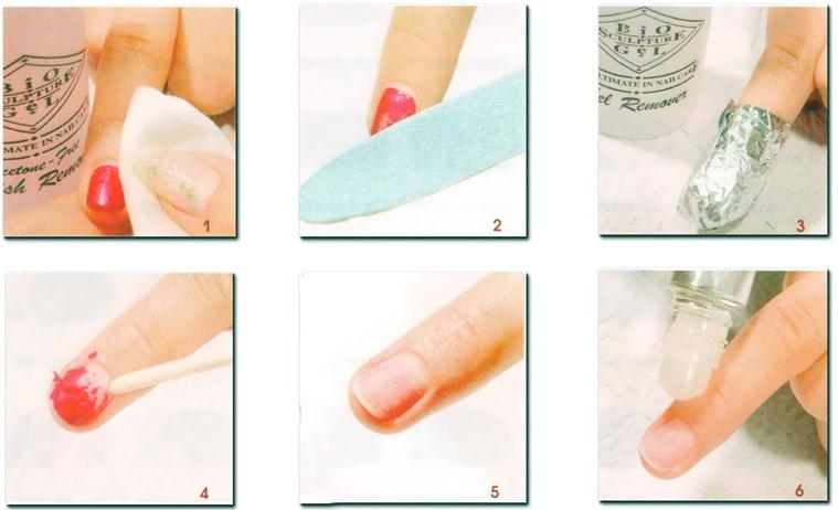гель для ногтей снятие